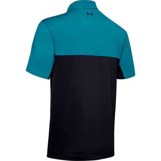 Under Armour Mens Colorblock Performance Polo, Blue, rebel_hi-res