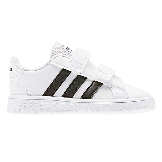 adidas Grand Court Toddlers Shoes White/Black US 4, White/Black, rebel_hi-res