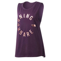 Running Bare Womens Easy Rider Muscle Tank Purple 8, Purple, rebel_hi-res