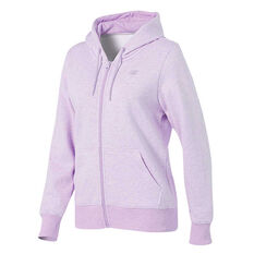 New Balance Womens Volume Fleece Full Zip Hoodie Pink XS, Pink, rebel_hi-res