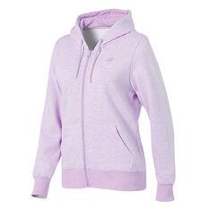 New Balance Womens Volume Fleece Full Zip Hoodie Pink XS, Pink, rebel_hi-res