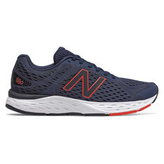 New Balance 680 2E Mens Running Shoes Navy US 7, Navy, rebel_hi-res