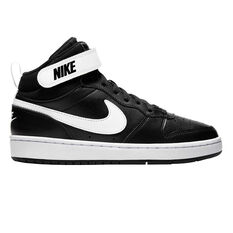 Nike Court Borough Mid 2 Kids Casual Shoes Black / White US 5, Black / White, rebel_hi-res