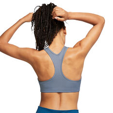 Nike Womens Swoosh Medium Support Sports Bra, Grey, rebel_hi-res