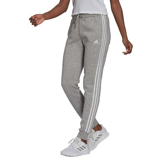 adidas Womens Essentials Fleece 3-Stripes Pants, Grey, rebel_hi-res