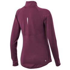 Ell & Voo Womens Amelia Full Zip Top Purple XXS, Purple, rebel_hi-res