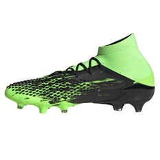 adidas Predator Mutator 20.1 Football Boots Black/Green US Mens 7.5 / Womens 8.5, Black/Green, rebel_hi-res