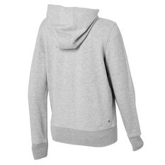 Ell & Voo Womens Harper Fleece Full Zip Hoodie, Grey, rebel_hi-res