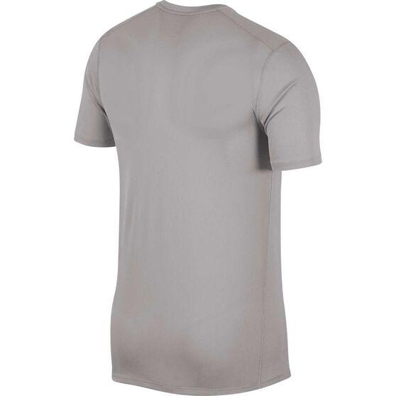 Nike Mens Breathe Running Top, Grey, rebel_hi-res