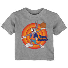 Space Jam: A New Legacy Bugs Bunny Name & Number Toddlers Tee Grey 2, Grey, rebel_hi-res
