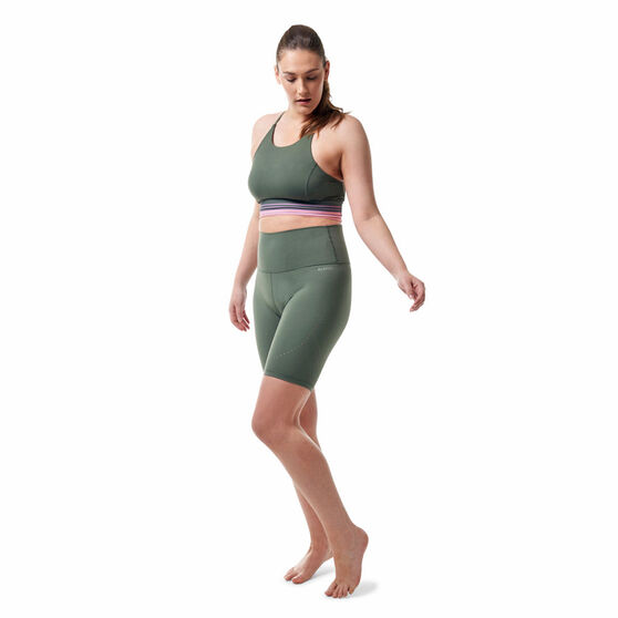 Ell & Voo Womens Kailee 7in Tights, Thyme, rebel_hi-res