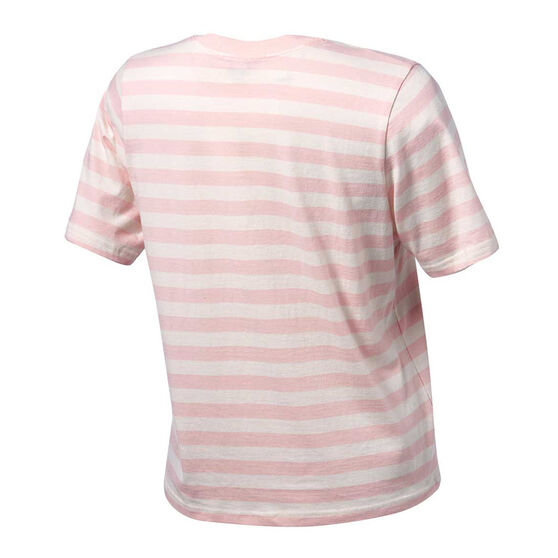 Running Bare Womens I Heard A Rumour Cropped Tee, Pink, rebel_hi-res