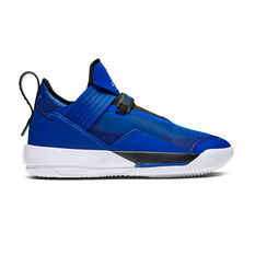 Nike Air Jordan XXXIII Mens Basketball Shoes Blue / White US 8, Blue / White, rebel_hi-res