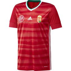 adidas Hungary 2020 Mens Home Jersey Red S, Red, rebel_hi-res