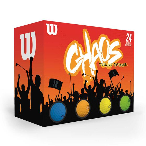 Wilson Chaos Colour Golf Balls 24 Pack, , rebel_hi-res