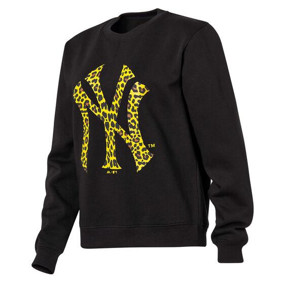 Majestic Womens New York Yankees Animal Logo Crew Sweater, Black, rebel_hi-res