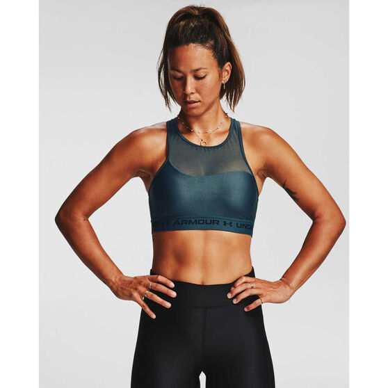 Under Armour Womens Mid Crossback Sports Bra, Navy, rebel_hi-res