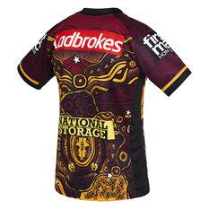 Brisbane Broncos 2021 Mens Indigenous Jersey Maroon S, Maroon, rebel_hi-res