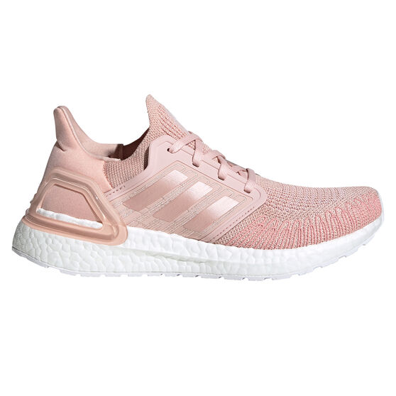 adidas Ultraboost 20 Womens Running Shoes, Pink/White, rebel_hi-res