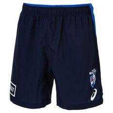 Western Bulldogs 2019 Mens Training Shorts Blue S, Blue, rebel_hi-res