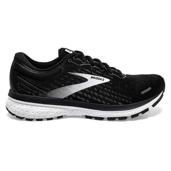 Brooks Ghost 13 Mens Running Shoes, Black/White, rebel_hi-res