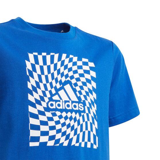 adidas Boys Graphic Tee, Blue, rebel_hi-res