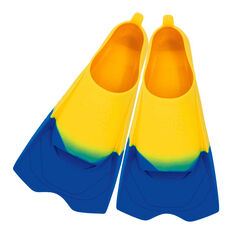 Zoggs Ultra Silicone Fins Yellow US 5 - 6, , rebel_hi-res