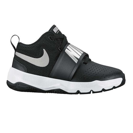b2c0baa8863 Nike Team Hustle D 8 Junior Boys Basketball Shoes Black   Silver US ...