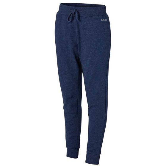 Ell & Voo Girls Harper Fleece Pants Navy 6, Navy, rebel_hi-res