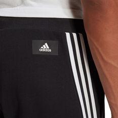 Adidas Mens FI 3 Stripes Pants, Black, rebel_hi-res
