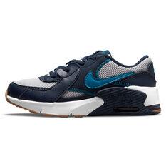 Nike Air Max Excee Kids Casual Shoes Grey/Blue US 11, Grey/Blue, rebel_hi-res