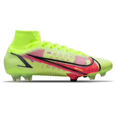 Nike Mercurial Superfly 8 Elite Football Boots Yellow/Black US Mens 4 / Womens 5.5, Yellow/Black, rebel_hi-res