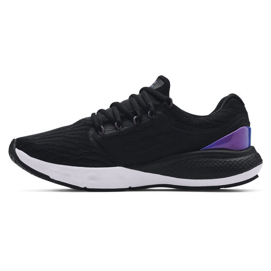 Under Armour Charged Vantage Colourshift Womens Running Shoes, Black/Blue, rebel_hi-res