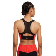 Nike Womens Dri-FIT Swoosh Icon Clash Medium Support Sports Bra Black XS, Black, rebel_hi-res