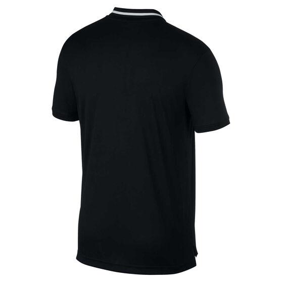 NikeCourt Mens Dri-FIT Tennis Polo, Black, rebel_hi-res