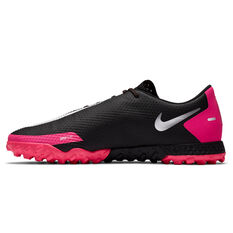 Nike React Phantom GT Pro Touch and Turf Boots Black/Silver US Mens 7 / Womens 8.5, Black/Silver, rebel_hi-res