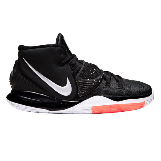 Nike Kyrie VI Kids Basketball Shoes, Black / White, rebel_hi-res