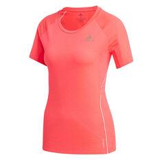 adidas Womens Adi Runner Tee Pink XS, Pink, rebel_hi-res