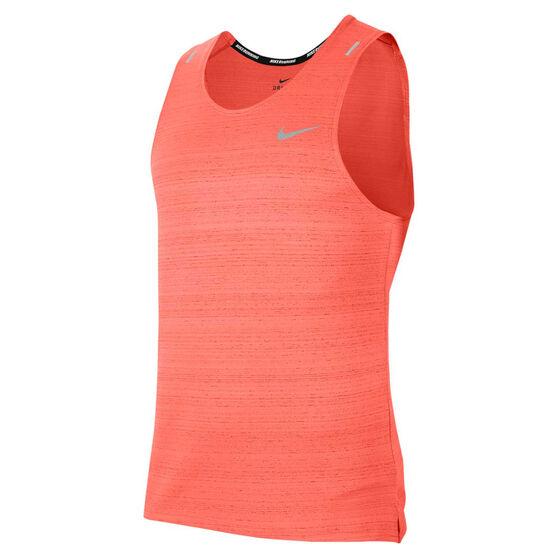 Nike Mens Dri-FIT Miler Tank, Orange, rebel_hi-res