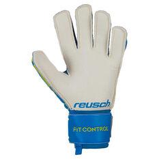 Reusch Fit Control RG Finger Support Goalkeeper Gloves Blue / Green 8, Blue / Green, rebel_hi-res