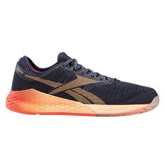 Reebok Nano 9 Womens Training Shoes Navy / Orange US 9, Navy / Orange, rebel_hi-res