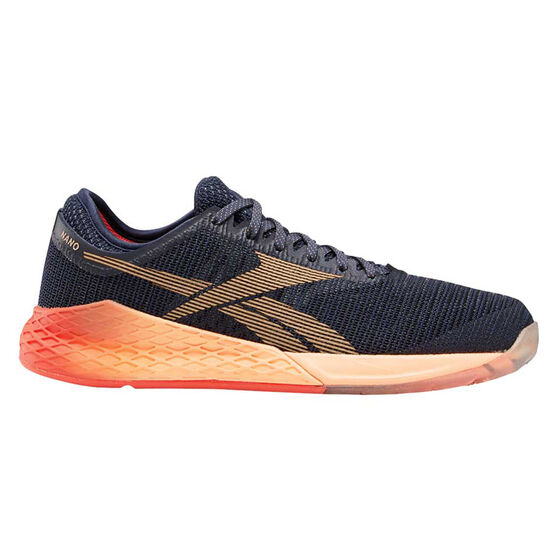 Reebok Nano 9 Womens Training Shoes Navy / Orange US 9, Navy / Orange, rebel_hi-res