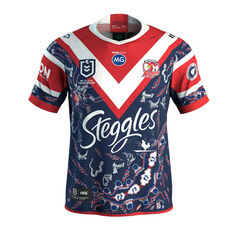Sydney Roosters 2020 Mens Indigenous Jersey Navy/Red S, Navy/Red, rebel_hi-res