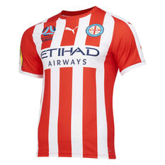 Melbourne City FC 2019/20 Mens 3rd Jersey Red / White S, Red / White, rebel_hi-res