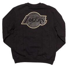 Los Angeles Lakers Mens 2019 Presto Crew Sweat Black S, Black, rebel_hi-res