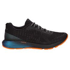 Asics Dynaflyte 3 Lite Show Mens Running Shoes Black / Orange US 7, Black / Orange, rebel_hi-res