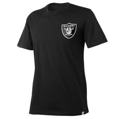 Oakland Raiders Mens Drimer Tee Black S, Black, rebel_hi-res
