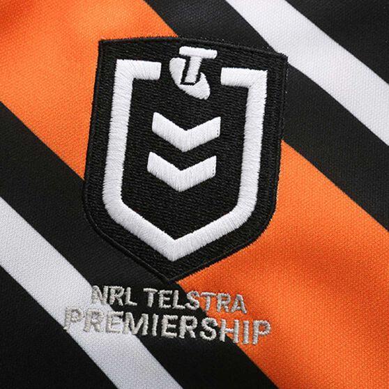 Wests Tigers 2020 Womens Home Jersey, Black / Orange, rebel_hi-res