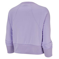 Nike Womens Dri FIT Get Fit Sweatshirt Purple XS, Purple, rebel_hi-res