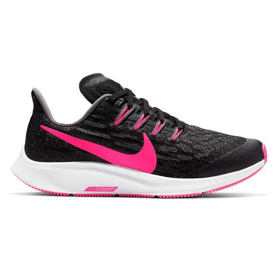 Nike Air Zoom Pegasus 36 Kids Running Shoes Black / Pink US 1, Black / Pink, rebel_hi-res